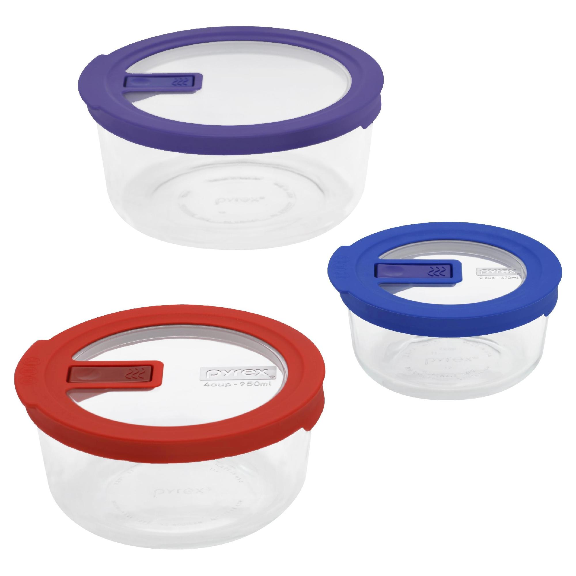 No Leak Lid Storage Containers - 6 Piece