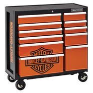Craftsman Harley-Davidson® 40 In. 9-Drawer Rolling Cart at Craftsman.com