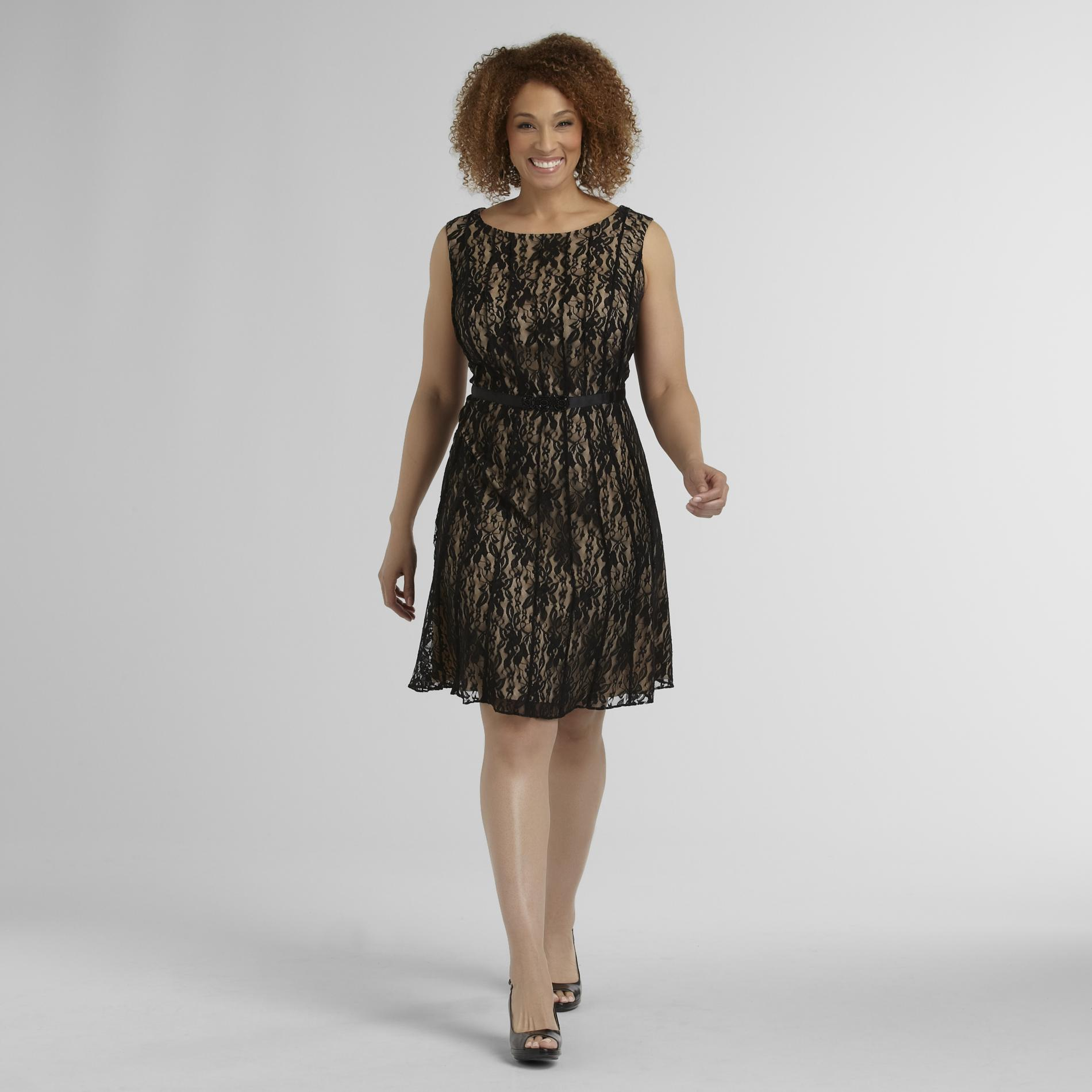 Women's Plus Sleeveless Lace Dress at Sears.com