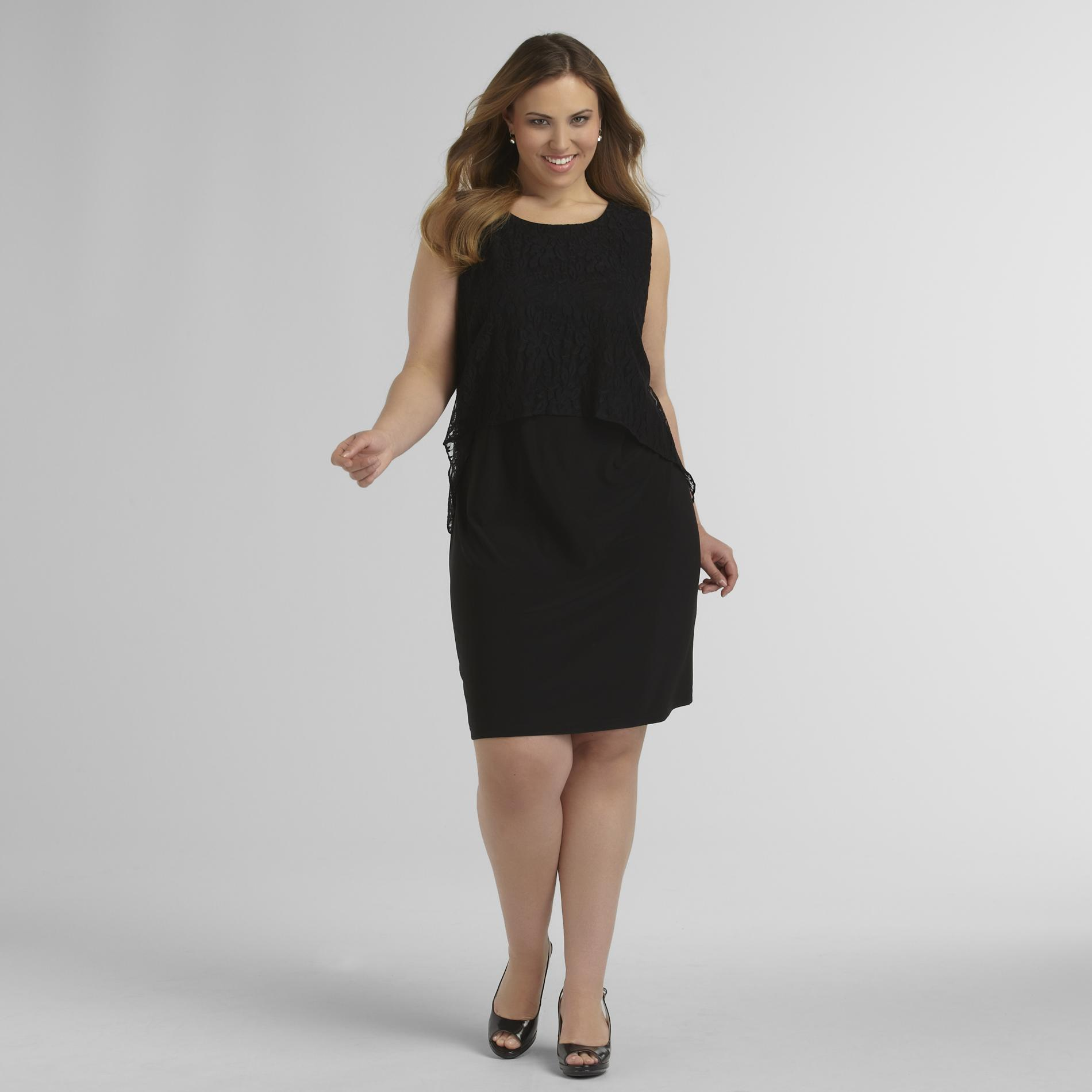 Women's Plus Sheath Dress - Flyaway Lace at Sears.com
