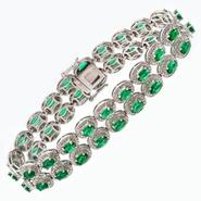 Sterling Silver Simulated Emerald Bracelet at Sears.com