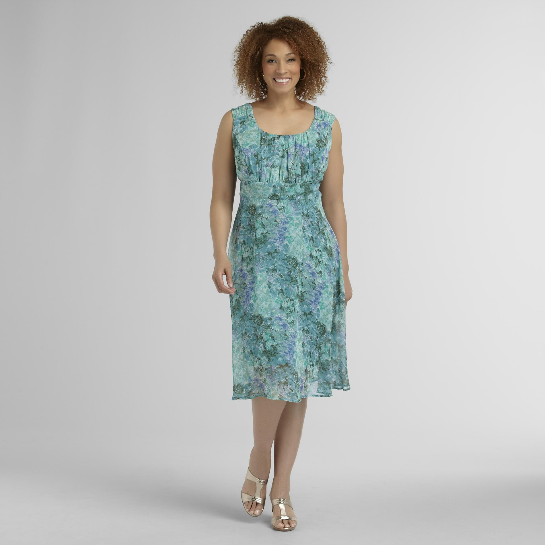 Connected Apparel Women's Plus Sleeveless Dress - Floral at Sears.com