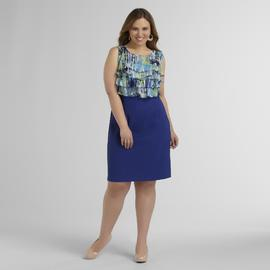 Connected Apparel Women's Plus Tiered Chiffon Dress at Sears.com