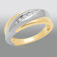 18K Gold over Sterling Silver Mens Wedding Band with Diamond Accents at Sears.com