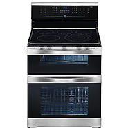 "Kenmore Elite 30"" Double-Oven Freestanding Electric Range w/ Convection - Stainless Steel at Sears.com"