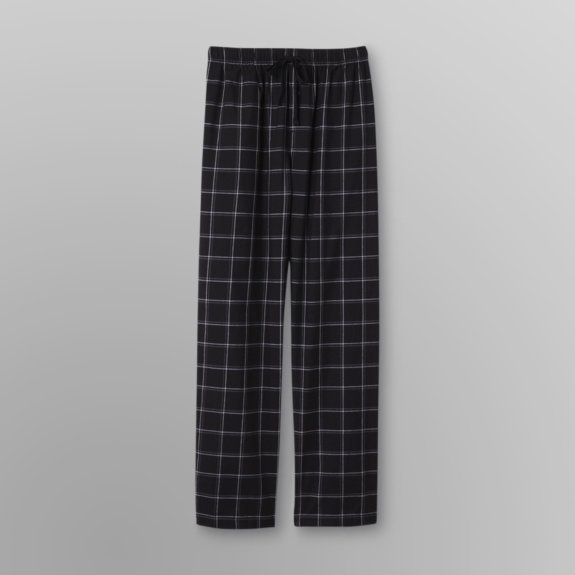 Basic Editions Men's Poplin Pajama Pants - Plaid at Kmart.com