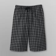 Basic Editions Men's Big & Tall Poplin Pajama Shorts - Plaid at Kmart.com