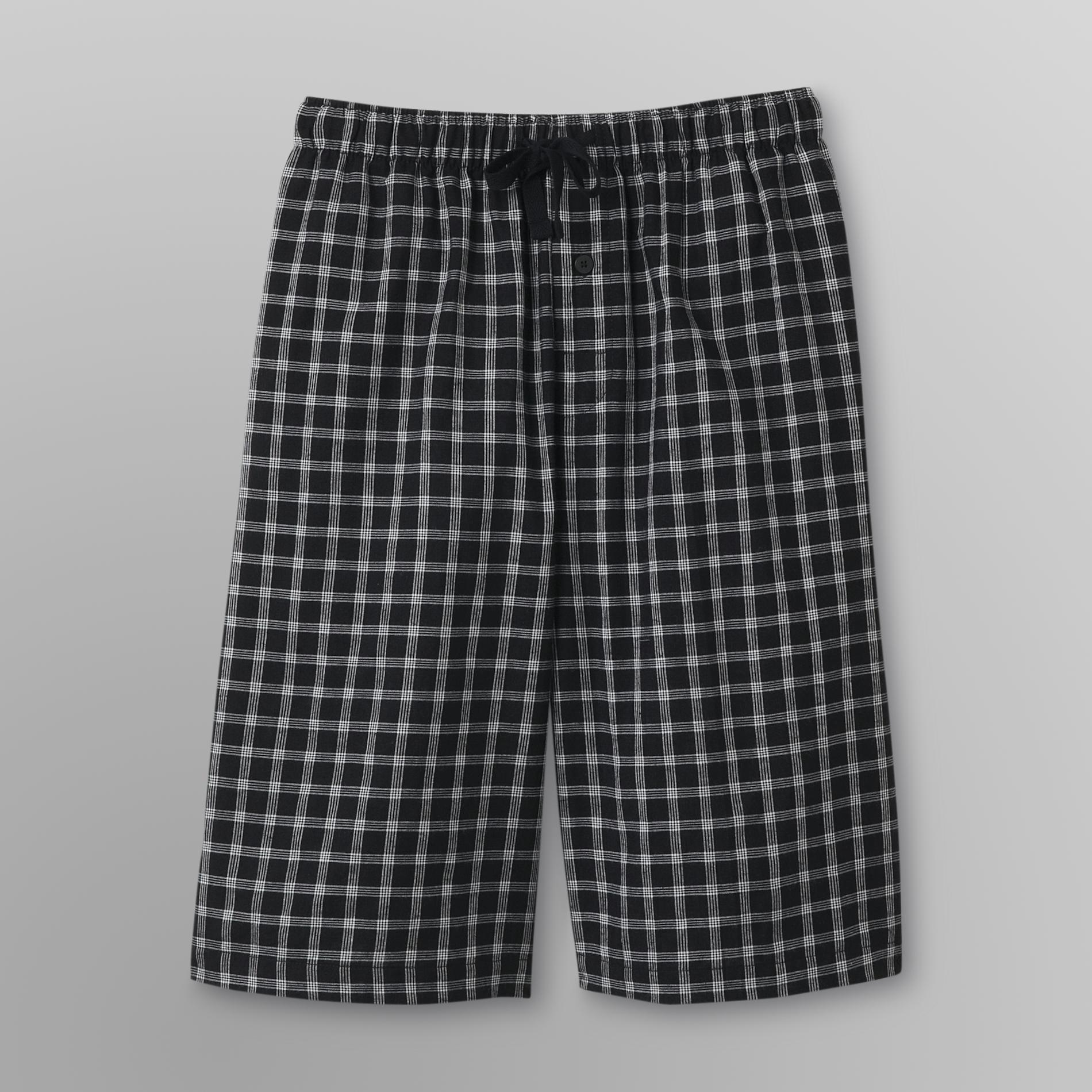 Basic Editions Men's Poplin Pajama Shorts - Plaid at Kmart.com