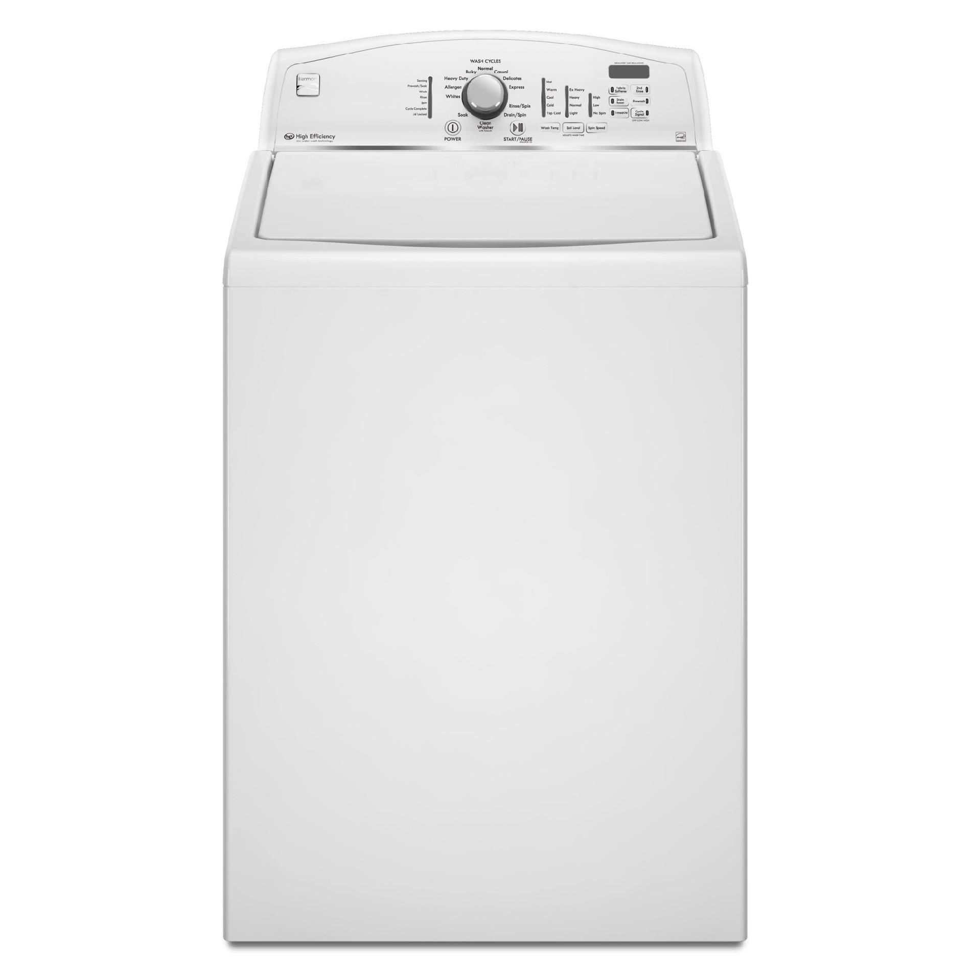 Kenmore 3.6 cu. ft. High-Efficiency Top-Load Washer                                                                                      Kenmore 3.6 cu. ft. High-Efficiency Top-Load Washer - White
