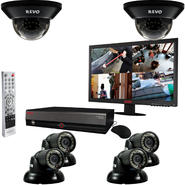 "Revo 8 Ch. 1TB DVR Surveillance System with 6 700TVL 100 ft. Night Vision Cameras & 18.5"" Monitor at Kmart.com"