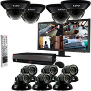 "Revo 16 Ch. 4TB DVR Surveillance System with 10 700TVL 100 ft. Night Vision Cameras & 23"" Monitor at Kmart.com"