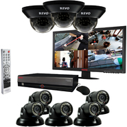 "Revo 16 Ch. 4TB DVR Surveillance System with 8 700TVL 100 ft. Night Vision Cameras & 21.5"" Monitor at Kmart.com"