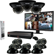 "Revo 16 Ch. 3TB DVR Surveillance System with 8 700TVL 100 ft. Night Vision Cameras & 23"" Monitor at Kmart.com"