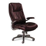 ULTIMO 100 SERIES HIGH-BACK SWIVEL/TILT CHAIR, BURGUNDY LEATHER at Kmart.com