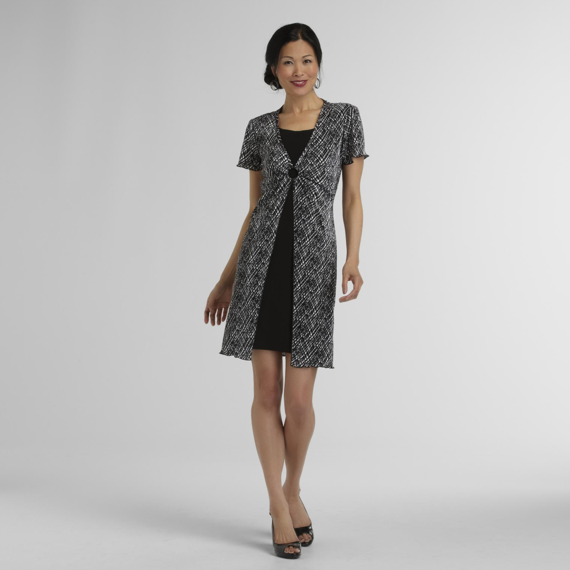 Connected Apparel Women's Crinkle-Cotton Dress at Sears.com