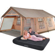 Camping Essentials Bundle with Tent & Air Bed        ...