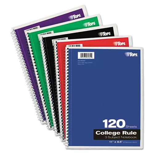 TOPS Coil-Lock Wirebound Notebooks College/Medium 11 x 8-1/2 White 120 Sheets