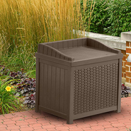 Suncast 22 Gallon Resin Wicker Storage Seat at Sears.com