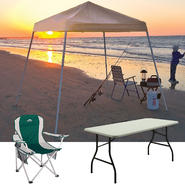 Shelter Logic 8x8 Pop-up Canopy Cover with Chair & Folding Table Bundle at Kmart.com