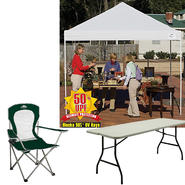 Shelter Logic 10x10 Open Top Pro Pop-up Canopy Cover with Chair & Folding Table Bundle at Kmart.com