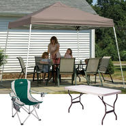 Shelter Lofic 12x12 Pop-up Canopy Cover with Chair & Folding Table Bundle at Kmart.com