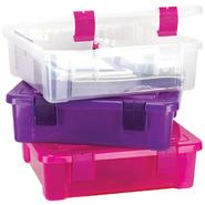 "File Tub 17""X15""X5""-Clear/Magenta at Kmart.com"