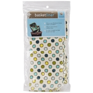 Medium Basket Liner-Vintage Dot Blue at Kmart.com