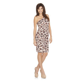Kardashian Kollection Women's One Shoulder Dress - Leopard Print at Sears.com