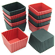Freshware 12-Pack Mini Square Silicone Reusable Baking Cup at Sears.com