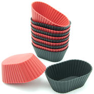 Freshware 12-Pack Mini Oval Silicone Reusable Baking Cup at Sears.com