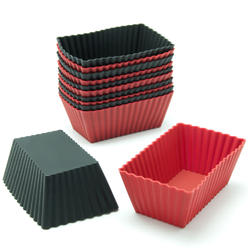 Freshware 12-Pack Rectangular Silicone Reusable Baking Cup at Kmart.com