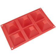 Freshware 6-Cavity Pyramid Silicone Mold and Baking Pan at Sears.com