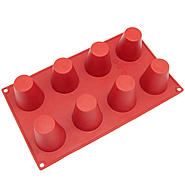 Freshware 8-Cavity Cylinder Pudding Silicone Mold and Baking Pan at Kmart.com