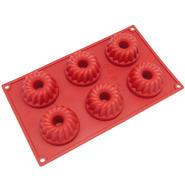 Freshware 6-Cavity Bundt and Coffe Cake Silicone Mold and Baking Pan at Sears.com