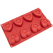 Freshware 8-Cavity Heart Silicone Mold and Baking Pan at Sears.com