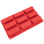 Freshware 9-Cavity Narrow Loaf Silicone Mold and Baking Pan at Kmart.com