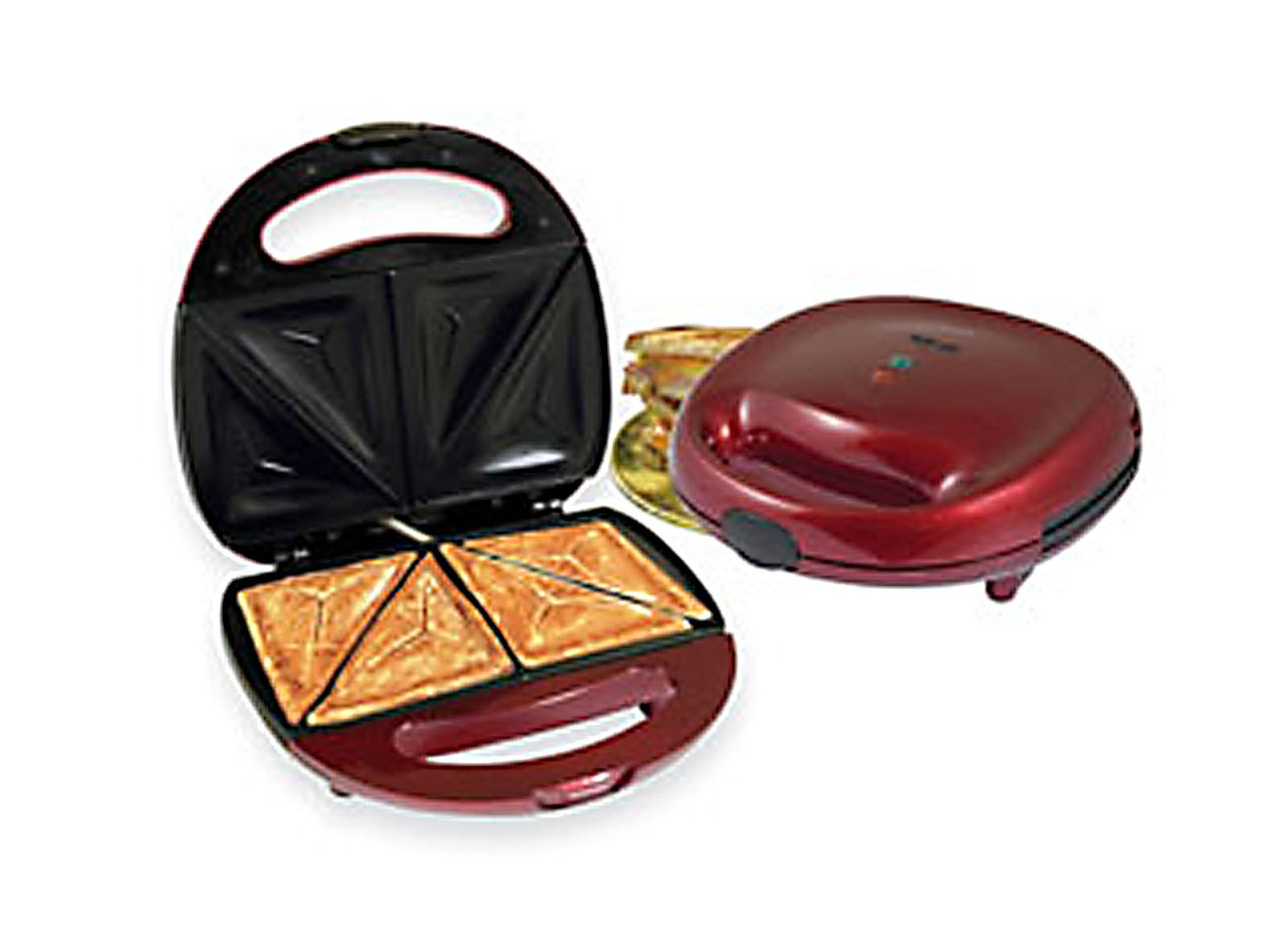Image of Better Chef 97075868M IM-288R Sandwich Grill - Red