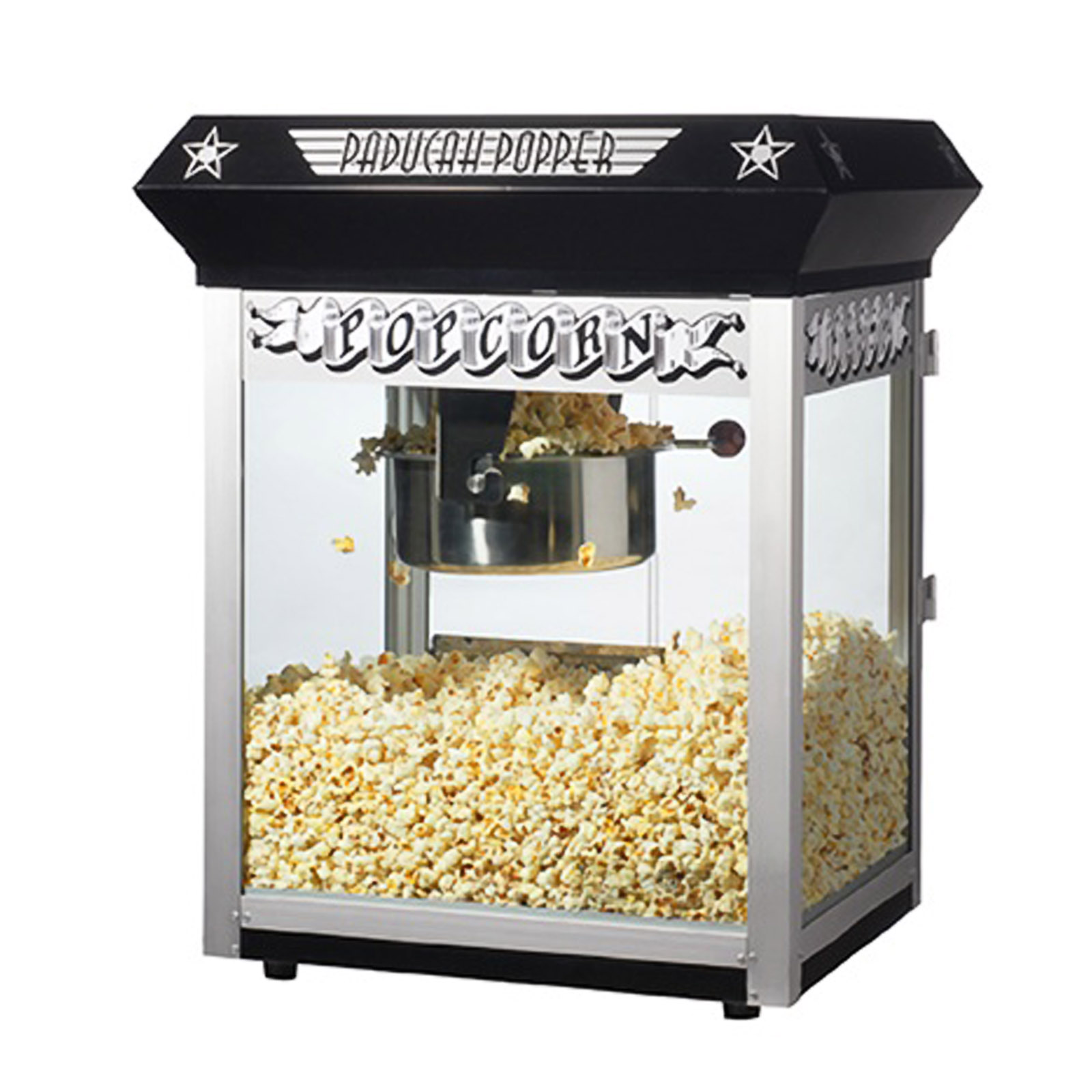 Great Northern Popcorn Black Paducah Eight Ounce Bar Style Antique Popcorn Machine