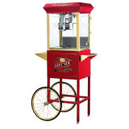 Great Northern Popcorn Red Princeton Eight Ounce Antique Popcorn Machine and Cart at Sears.com