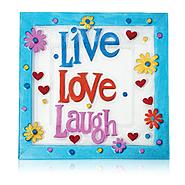 "Pfaltzgraff Live Love Laugh 14.96"" x 14.96"" x 1.18""                square platter at Sears.com"