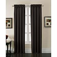 Jaclyn Smith Stockton Black Blackout Curtain Panel at Kmart.com
