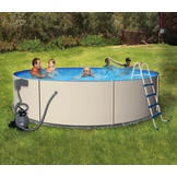 Swim Time Rugged Steel Round 48/52 in. Deep Metal Wall Swimming Pool Package at mygofer.com