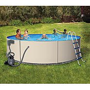 "Swim Time Rugged Steel 18 ft Round 52"" Deep Swimming Pool Package at Sears.com"