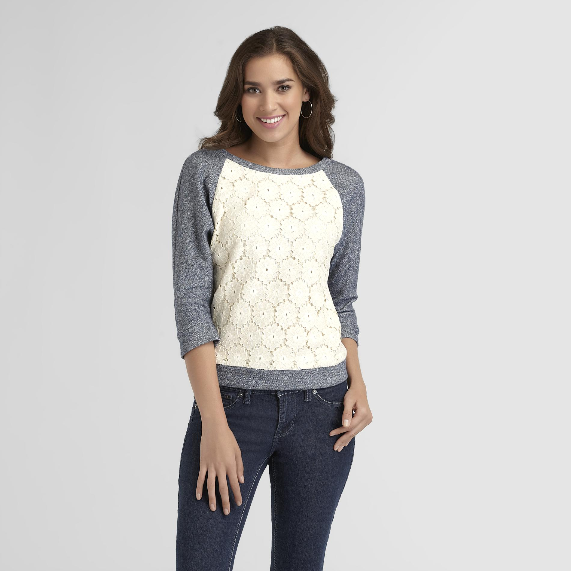 Route 66 Women's Crochet-Front Sweater at Kmart.com