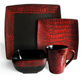 American Atelier BOA red 16 Piece Dinnerware set at mygofer.com