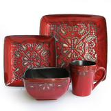 American Atelier Marquee Red 16 Piece Dinner set at mygofer.com