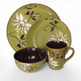American Atelier Mirabel Green 16 Piece Dinner set at mygofer.com