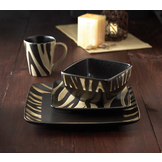 American Atelier Safari 16 piece Dinner set - Zebra at mygofer.com
