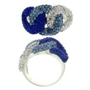 Plated Blue Open Link Crystal Ring at Kmart.com