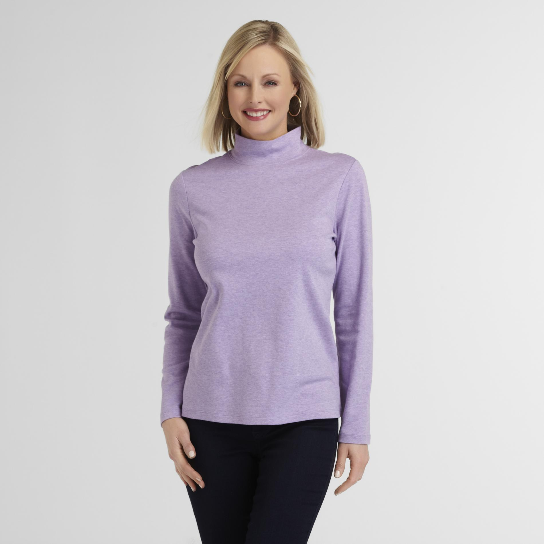 Laura Scott Women's Mock Neck Top - Heathered at Sears.com